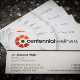 Business Cards of Centennial Wellness - Dr Sheena Walli